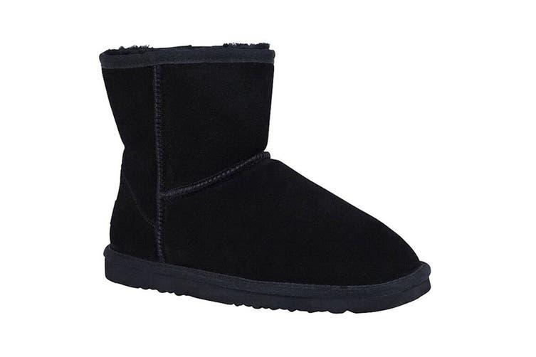 Grosby Women's Jillaroo High Ugg Boots (Black, Size 8 US)