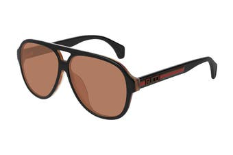 Gucci GG0463SA Sunglasses (Black) - Orange