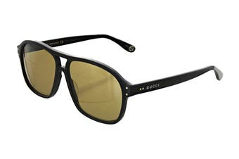 Gucci GG0475S Sunglasses (Black) - Brown