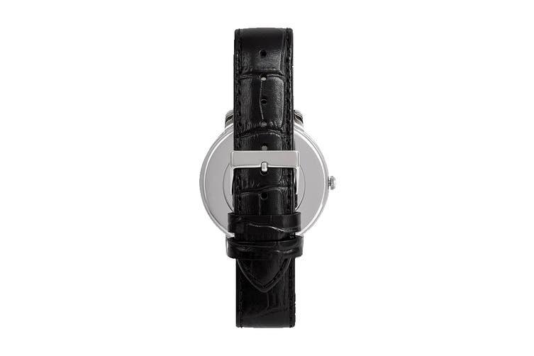 Guess Montauk Croc Leather (Silver/Black)