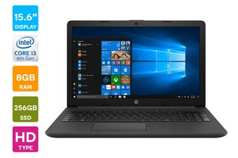 "HP 250 G7 15.6"" Core i3-8130U 8GB RAM 256GB SSD Win 10 Home Laptop (3N381PA)"