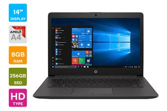 "HP 245 G7 14"" AMD A4-9125 8GB RAM 256GB SSD Win 10 Home Laptop (3N480PA)"