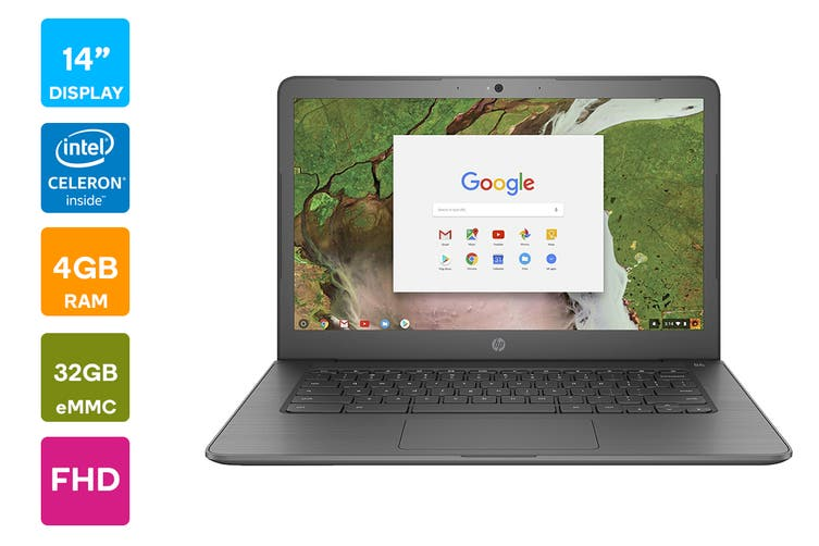 "HP Chromebook 14 G5 14"" FHD Laptop (N3450, 4GB RAM, 32GB eMMC) - Australian Model"