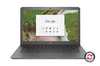 "HP 250 G7 14"" HD Chromebook Chrome OS Laptop (Intel Celeron, 4GB RAM, 32GB EMMC, Grey) - Certified Refurbished"