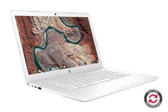 "HP 250 G7 14"" HD Chromebook Chrome OS Laptop (Intel Celeron, 4GB RAM, 32GB EMMC, White) - Certified Refurbished"
