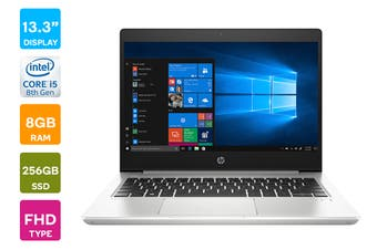 "HP Probook 430 G6 13.3"" HD Windows 10 Pro Laptop (i5-8265U, 8GB RAM, 256GB SSD)"