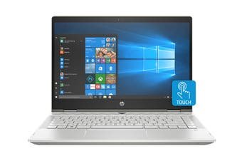 """HP Pavilion x360 14"""" Convertible 2-in-1 Windows 10 Touch Screen Laptop (i5-8265U, 8GB, 256GB, Silver)"""