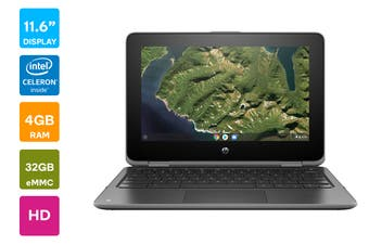 "HP Chromebook x360 11 G2 11.6"" HD Convertible 2-in-1 Touchscreen Laptop (N4000, 4GB RAM, 32GB eMMC)- Australian Model"