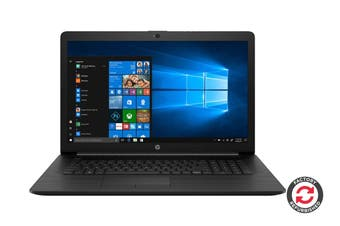 "HP 17-by1053dx 17.3"" Windows 10 Laptop (i5-8265U, 8GB RAM, 256GB SSD, Jet Black) - Certified Refurbished"