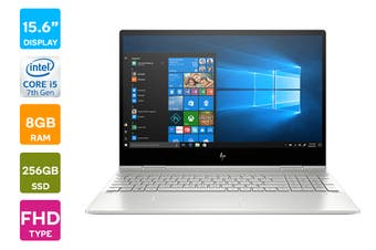 "HP ENVY x360 15.6"" Full HD Windows 10 Home Touchscreen Laptop (i5-10210U 1.6GHz, 256GB SSD + 16GB Optane, 8GB RAM, Natural Silver) - Certified Refurbished"