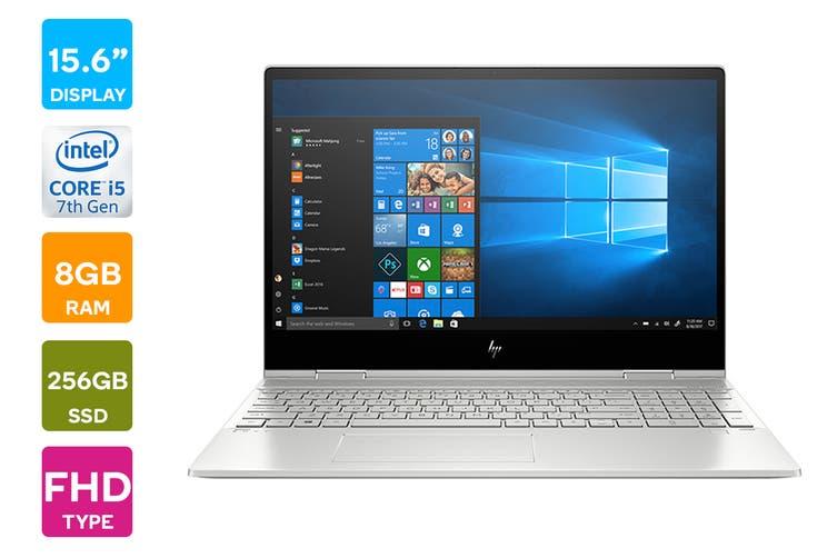 "HP ENVY x360 15.6"" Full HD Windows 10 Home Touchscreen Laptop (i5-10210U 1.6GHz, 256GB SSD + 16GB Optane, 8GB RAM, Natural Silver) - Certified Refurbished"