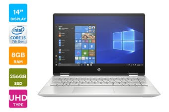 "HP Pavilion x360 14"" UHD 2-in-1 Convertible Windows 10 Home Touchcreen Laptop (i5-1021U 1.6GHz 256GB SSD, 8GB RAM, Silver) - Certified Refurbished"