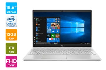 "HP Pavilion 15.6"" Full HD Windows 10 Home Touchscreen Laptop (i7-1065G7 1.3GHz, 1TB, 12GB RAM, Mineral Silver) - Certified Refurbished"