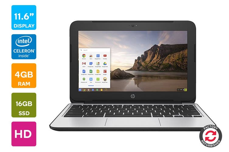 "HP 11 G4 11.6"" Chromebook Chrome OS Laptop (Celeron N2840, 4GB RAM, 16GB eMMC) - Refurbished"