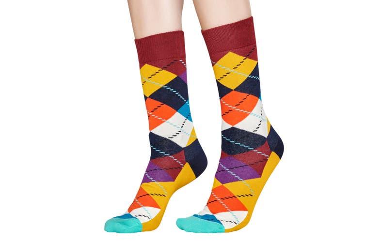 Happy Socks Argyle Sock (Orange, Size 41-46)