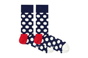 Happy Socks Big Dot Sock (Navy/Red/White, Size 41-46)