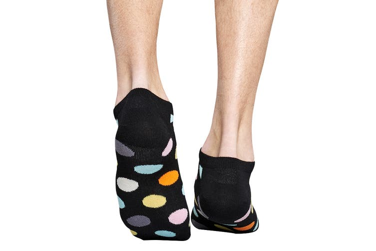 Happy Socks Big Dot Low Sock (Black, Size 36-40)