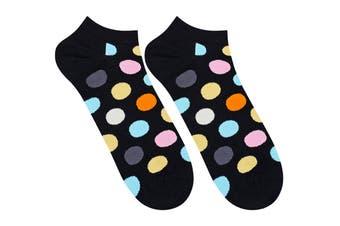 Happy Socks Big Dot Low Sock (Black, Size 41-46)