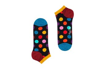 Happy Socks Big Dot Low Sock (Black/Blue/Yellow/Burgundy, Size 41-46)