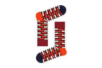 Happy Socks Brick Sock (Blue/Orange/White, Size 36-40)