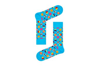 Happy Socks Clashing Dot Sock (Blue, Size 41-46)