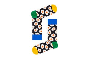 Happy Socks Sunny Side Up Sock (Black, Size 36-40)