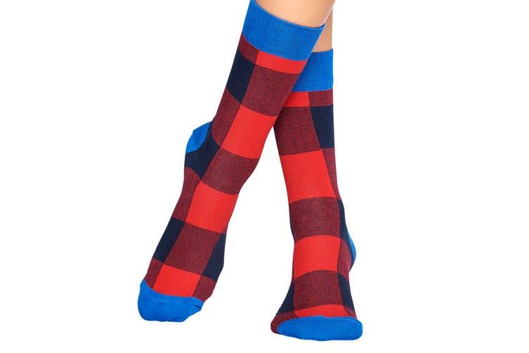 Happy Socks Lumberjack Sock (Red/Blue, Size 41-46)