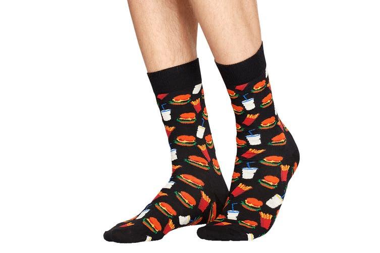 Happy Socks Hamburger Sock (Black, Size 41-46)