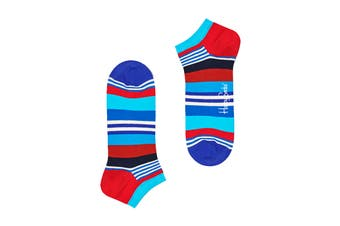 Happy Socks Multi Stripe Low Sock (Blue/Red/White/Black, Size 36-40)