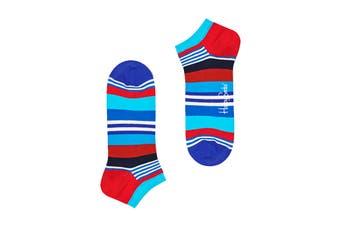 Happy Socks Multi Stripe Low Sock (Blue/Red/White/Black, Size 41-46)