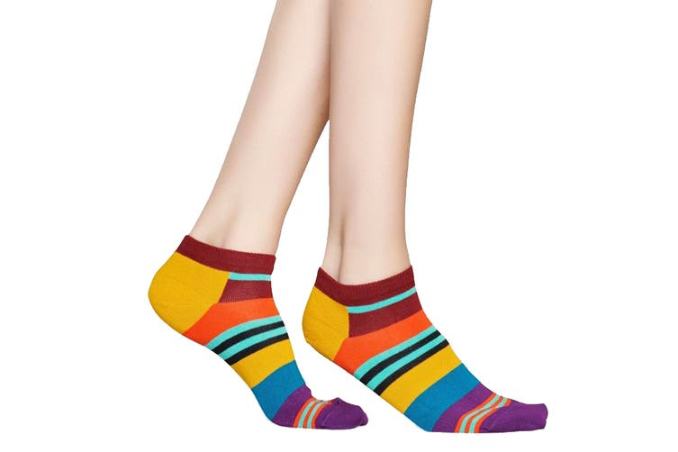 Happy Socks Multi Stripe Low Sock (Orange, Size 36-40)