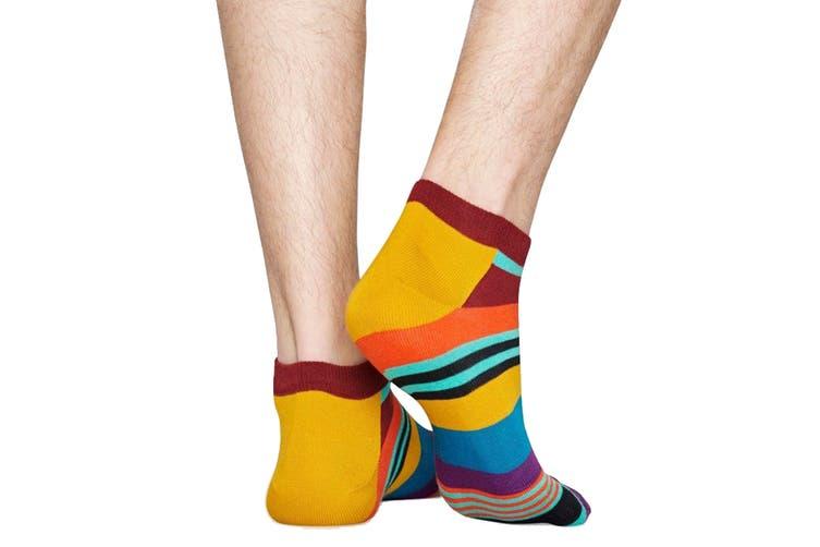Happy Socks Multi Stripe Low Sock (Orange, Size 41-46)