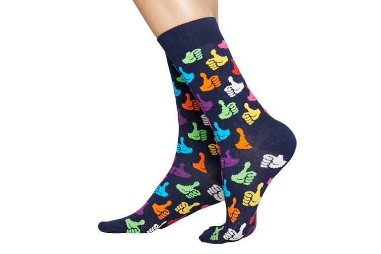 Happy Socks Thumbs Up Sock (Navy Blue, Size 41-46)