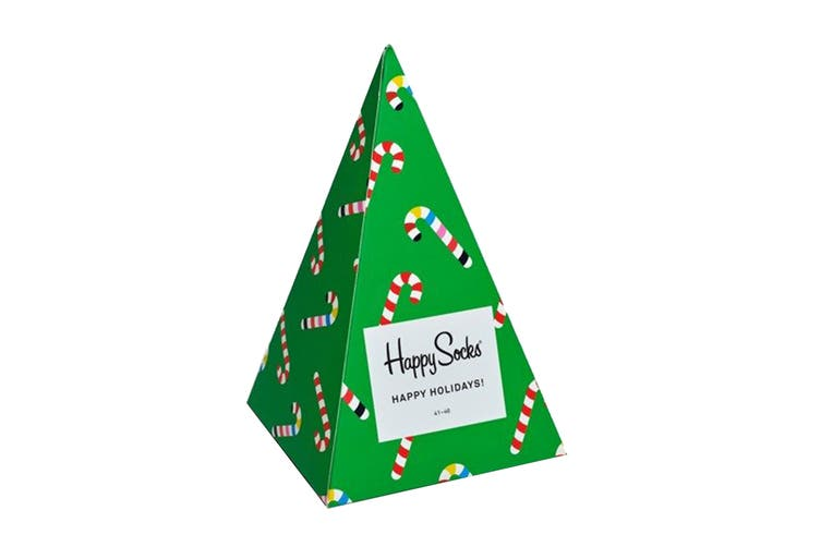 Happy Socks Holiday Tree Gift Box (Green/Red/White, Size 41-46)