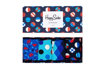 Happy Socks Navy Gift Box (Navy Blue, Size 41-46)