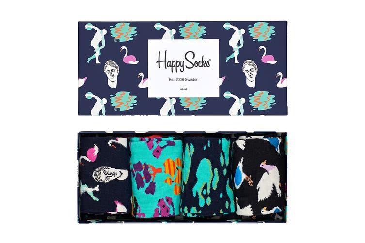 Happy Socks Day In The Park Gift Box (Navy Blue/Black, Size 41-46)