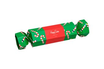 Happy Socks Christmas Cracker Candy Cane Gift Box (Red/White, Size 41-46)