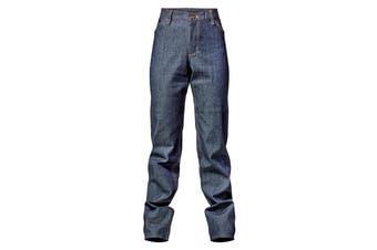 Hard Yakka Women's Bulwark iQ Flame Resistant Denim Pants (Indigo, Size 8)