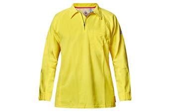 Hard Yakka Men's Bulwark iQ Flame Resistant Hi-Vis Polo (Yellow, Size 4XL)