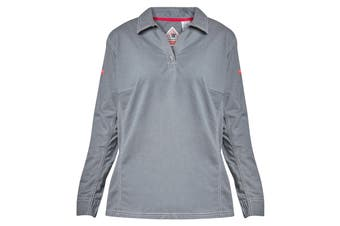 Hard Yakka Women's Bulwark iQ Flame Resistant Long Sleeve Polo (Charcoal, Size 5XL)