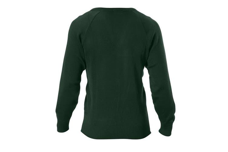 Hard Yakka Men's Wool/Acrylic V-Neck Jumper (Bottle Green, Size XS)