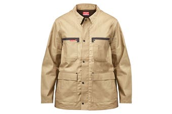 Hard Yakka Men's Legends Tough Jacket (Khaki, Size L)
