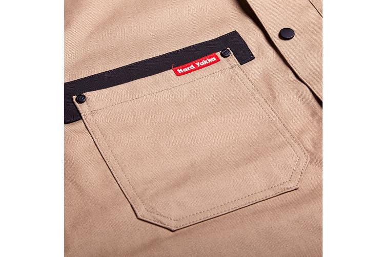 Hard Yakka Men's Legends Tough Jacket (Khaki, Size M)