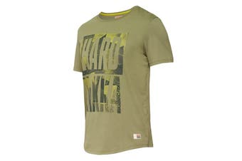 Hard Yakka Men's Graphic Camo Tee (Army Green, Size S)