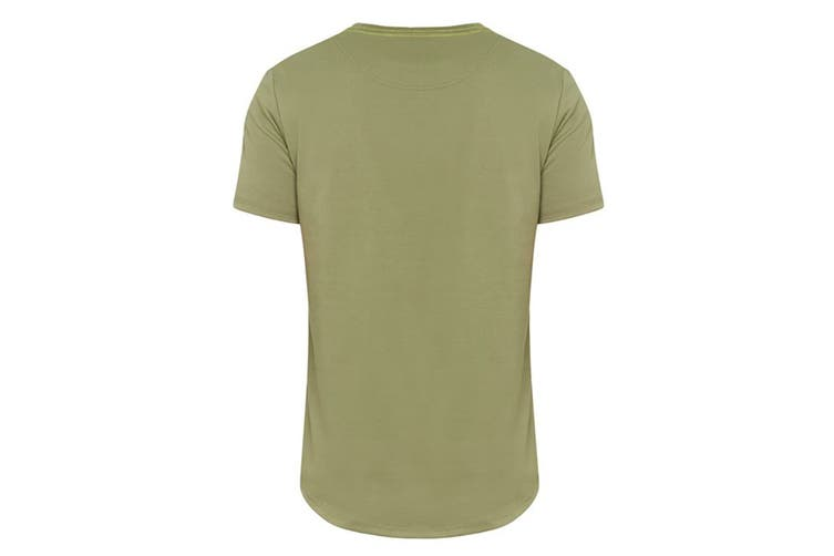 Hard Yakka Men's Graphic Camo Tee (Army Green, Size M)