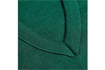 Hard Yakka Men's Wool/Acrylic V-Neck Jumper (Bottle Green)