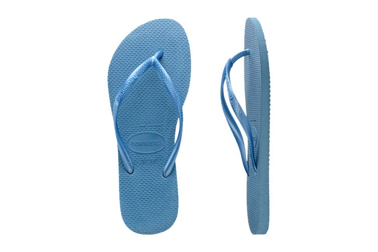 Havaianas Slim Thongs (Blue, Size 39/40 BR)