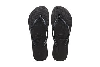Havaianas Slim Thongs (Black, Brazil)