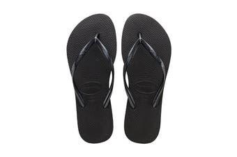 Havaianas Slim Thongs (Black, Brazil)