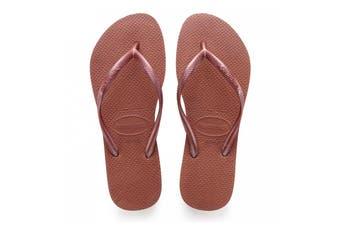 Havaianas Slim Thongs (Bronze Nude)